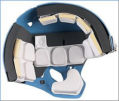 1103542c The inside of a football helmet