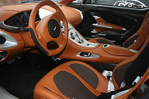 Interior of Aston Martin One77