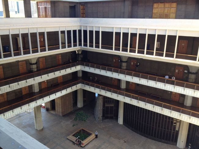Interior of Hawaii State Capitol from Executive Floor
