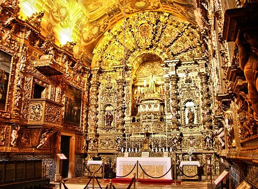 Interior of Saint Anthony's church - Lagos, Portugal