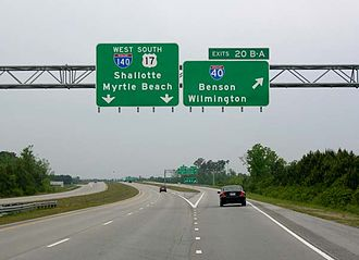 Interstate 140 (North Carolina) - I-140 at I-40