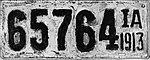 Iowa 1913 license plate - 65764.jpg