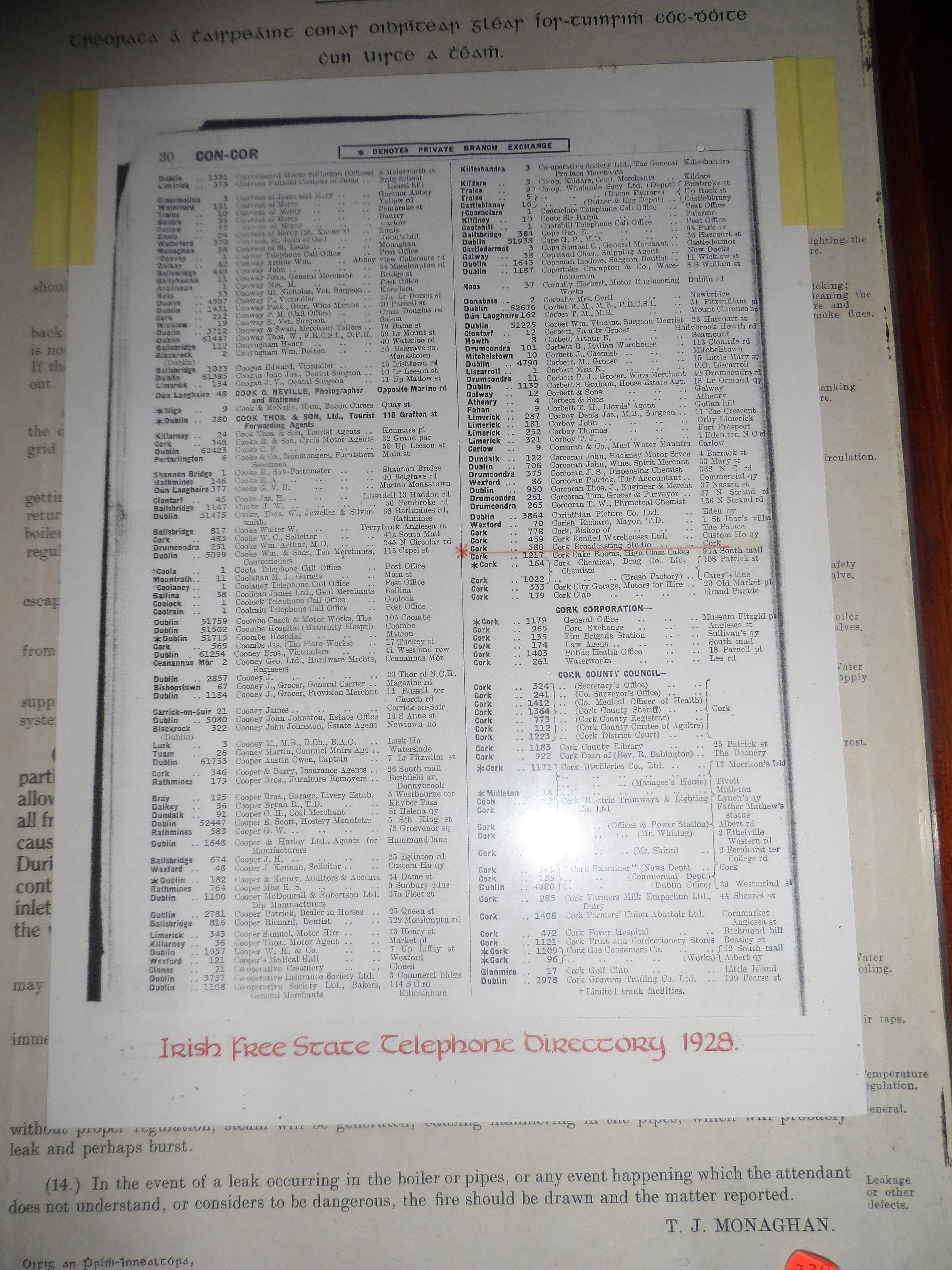 File:Irish Free State telephone directory, 1928 jpg - Wikimedia Commons