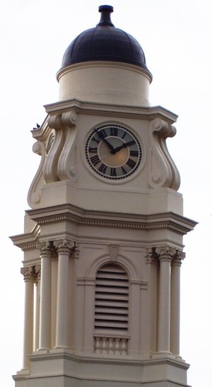 Irvington Town Hall - Clock tower detail