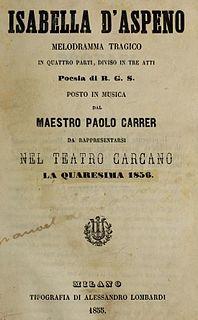 <i>Isabella dAspeno</i> opera