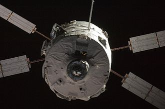 2008 in spaceflight - The first Automated Transfer Vehicle, Jules Verne approaches the ISS
