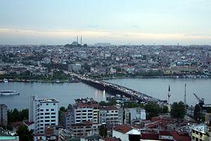 Atatürk Bridge - Atatürk Bridge as seen from the Galata Tower