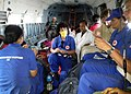 Italian Medical team being carried by an Indian Air Force (IAF) helicopter from Charkot alongwith casualties, post a recent massive earthquake occurred in Nepal on May 13, 2015.jpg