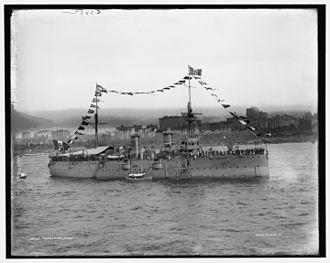 Etna-class cruiser - Image: Italian cruiser Etna Hudson 1909 LOC 4a 16124v