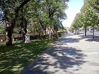 Jubilee 150 Walkway - Looking east from near the statue of Dame Roma Mitchell in 2013.