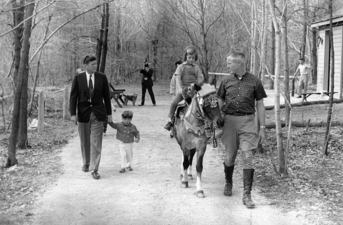 JFK %26 Kids with horse at Camp David, 1963.png