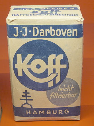 Coffee substitute - A pack of coffee substitute Koff by J.J. Darboven (mid 20th century)