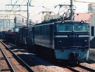JNR Class EF65 - Image: JRF EF659 1989 Odawara