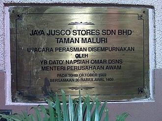 Maluri - JUSCO Taman Maluri was opened on 30 October 1989