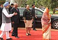 Jacob Zuma and his wife Mrs. Nompumelelo Ntuli-Zuma being escorted by the President, Smt. Pratibha Devisingh Patil and the Prime Minister.jpg