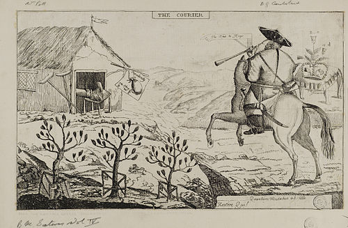 Jacobite satire of the Duke of Cumberland in the Highlands Jacobite broadside - Courier.jpg