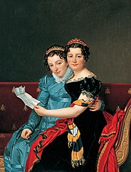 Portrait of the Sisters Zénaïde and Charlotte Bonaparte
