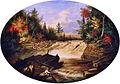 Jam of Sawlogs, Shawinigan Falls, by Cornelius Krieghoff.jpg
