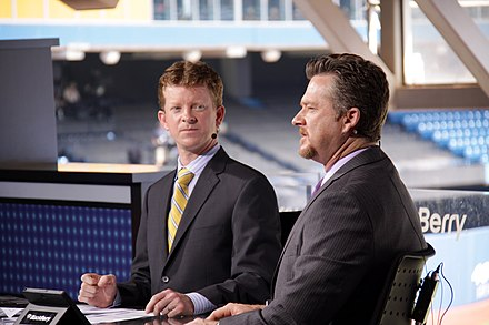 Jamie Campbell and Gregg Zaun providing Sportsnet coverage of a Toronto Blue Jays game in 2011. Jamie Campbell and Gregg Zaun.jpg