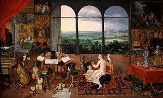 The Five Senses (series) - Image: Jan Brueghel I & Peter Paul Rubens Hearing (Museo del Prado)