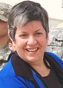 Janet Napolitano on a trip to Iraq