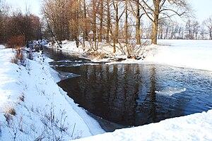 Úpa - The Úpa near Jaroměř