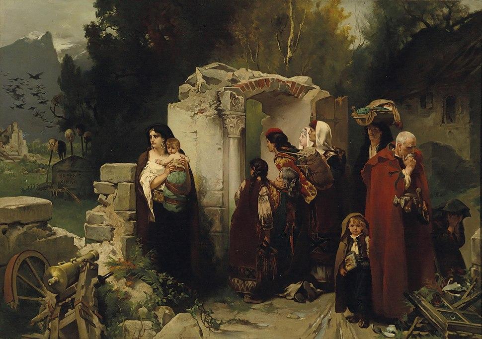 Jaroslav Czermak Rückkehr montenegrinischer Flüchtlinge 1877