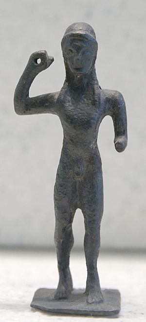 Javelin - Javelin thrower. Bronze, Laconian style, third quarter of the 6th century BC