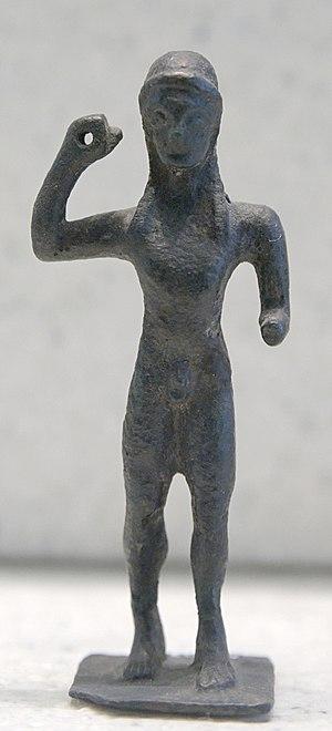Javelin - Javelin thrower. Bronze, Laconian style, third quarter of the 6th century BC