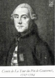 Jean-Frédéric de la Tour du Pin-Gouvernet French noble and statesman