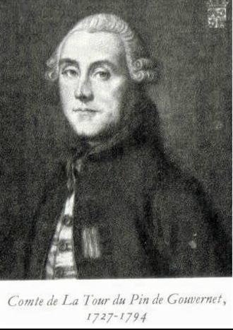 Jean-Frédéric de la Tour du Pin-Gouvernet - Portrait of Jean-Frédéric de la Tour du Pin-Gouvernet (engraving after a painting by Jean-Baptiste Greuze)