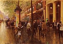 Jean Béraud: Les Grands Boulevards: Le Théâtre des Variétés, 1875 - 1890