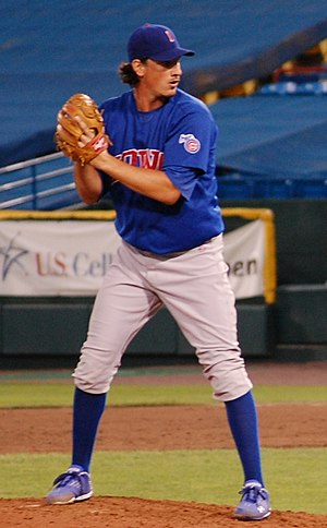 Jeff Samardzija - Samardzija pitching for the Iowa Cubs in 2010
