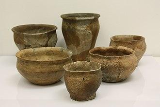 Early Slavs - Slavic ceramic pottery vessels, c. 8th century AD