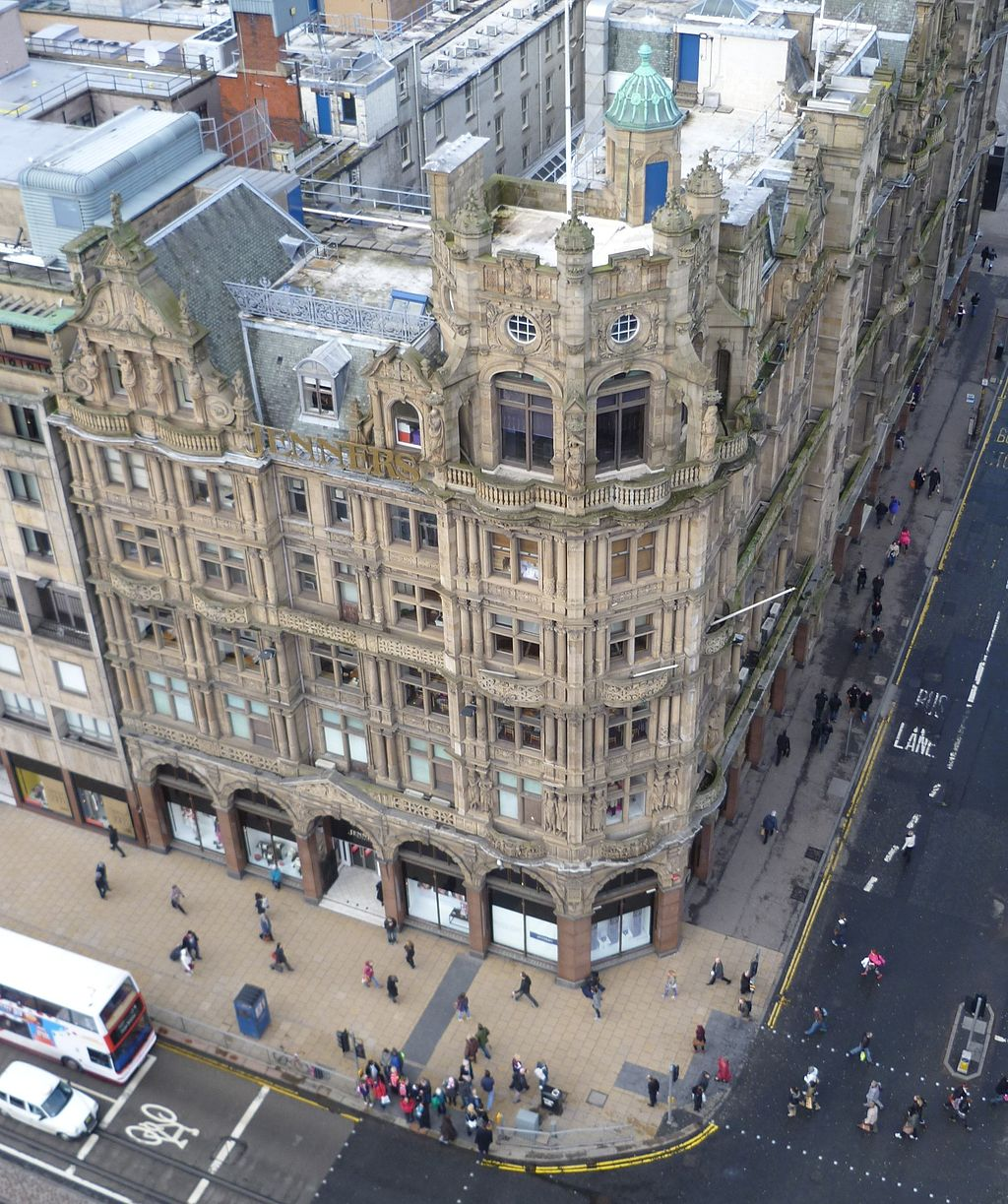 Jenners from the Scott Monument