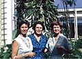 Jennie Atkins, Eleanor Hill & Jocelyn Crane, Piarco Airport 1963.jpg