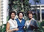 Jennie Atkins, Eleanor Hill & Jocelyn Crane, Piarco Airport 1963.jpg