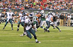 Jeremy Maclin - Maclin with the Philadelphia Eagles during the 2009 preseason
