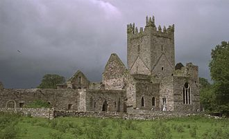 Jerpoint Abbey - East front of Jerpoint Abbey