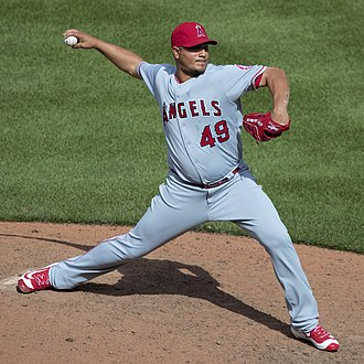 Jhoulys Chacín - Chacín pitching for the Los Angeles Angels in 2016