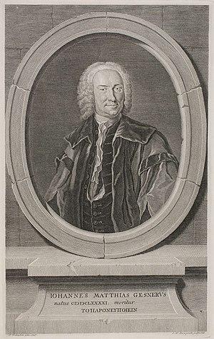 Johann Matthias Gesner - Frontispiece of Gesner's Novus Linguae et Eruditionis Romanae Thesaurus, 1747.