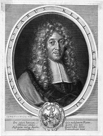 Johann Caspar Kerll - Portrait, made around 1685-1688 during his stay in Munich.