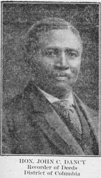 John C. Dancy - Dancy in 1908