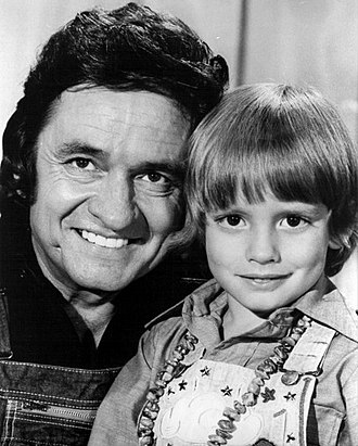 John Carter Cash - A young Carter Cash with Johnny Cash in 1975