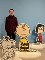 """Jonathan Deamer at the """"Good Grief, Charlie Brown!"""" exhibition at Somerset House, London (November 2018).png"""