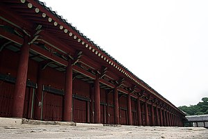 A view of the main hall, Jeongjeon.