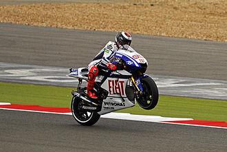 Jorge Lorenzo - Lorenzo at the 2010 British Grand Prix.
