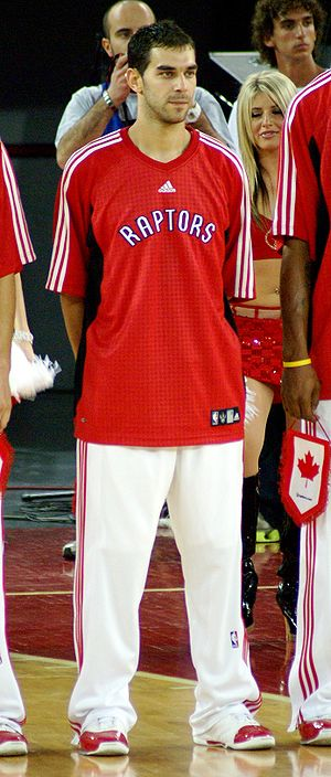 José Calderón (basketball) - Calderón played mostly off the bench in his rookie season (2005–06) with the Raptors