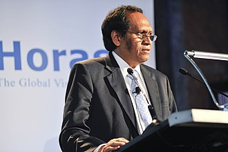 East Timorese parliamentary election, 2012 - Image: Jose Luis Guterres, Deputy Prime Minister of Timor Leste, addressing participants, at the Horasis Global China Business Meeting 2009 Flickr Horasis