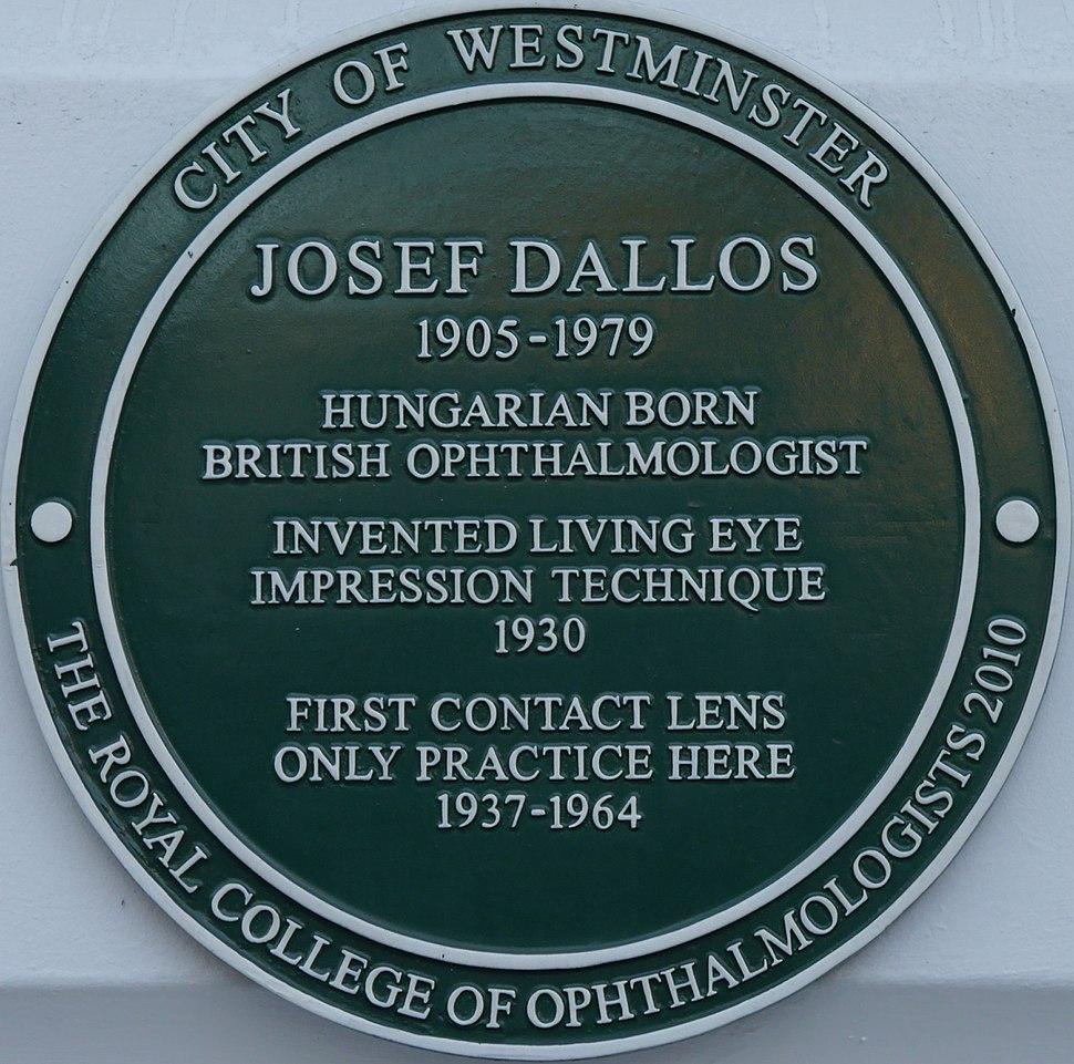 Josef Dallos plaque